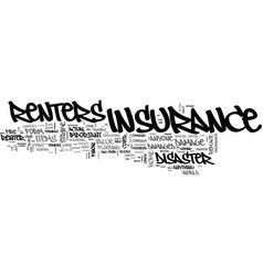 What you should know about renters insurance text vector