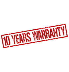 10 years warranty stamp vector