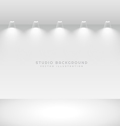 Studio gallery interior with spot lights vector
