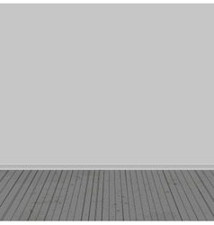 The white walls and old wooden floor vector image