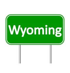 Wyoming green road sign vector