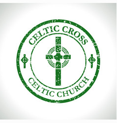 Celtic cross-celtic church vector