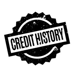 Credit history rubber stamp vector
