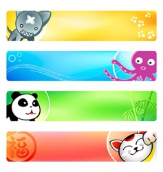 Anime banners vector