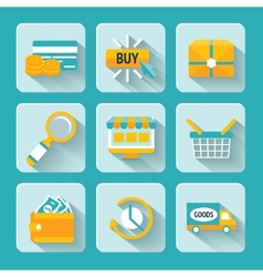 Online Shopping Icons Set vector image