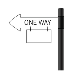 Sign one way art vector