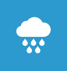 Cloud rain icon white on the blue background vector