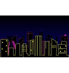 Modern city background vector