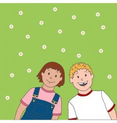 Jack and daisy cartoon vector