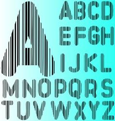 Barcode Alphabet 2 A to Z vector image