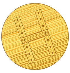 Wooden cover vector image