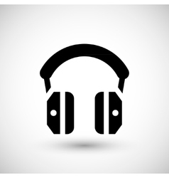 Isolated headphones icon vector