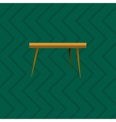 Wooden table in living room flat icon vector