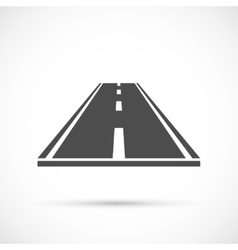 Piece of road icon vector
