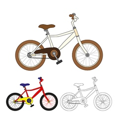 Vintage Bicycle Colorful Bicycle vector image