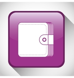 Wallet button icon social media design vector
