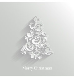 Absrtact Floral Christmas Tree Background Trendy vector image vector image