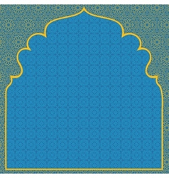 Arabian blue background vector image