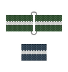 army belt isolated on white background vector image