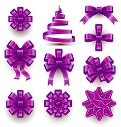 Christmas Bows vector image vector image