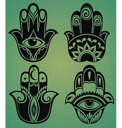 Collection of hamsa hands vector