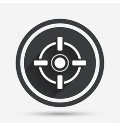 Crosshair sign icon Target aim symbol vector image