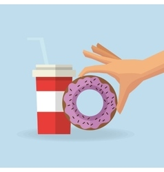 Donut and soda design vector