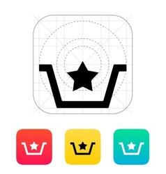 Favorites in basket icon vector image vector image