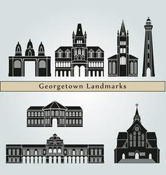 georgetown skyline landmarks vector image vector image