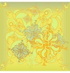 Golden Rose hand-drawn flower floral ornament vector image