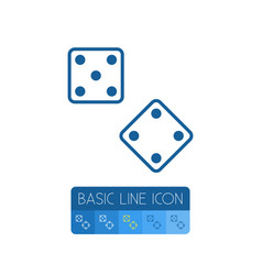 isolated dice outline die element can be vector image vector image