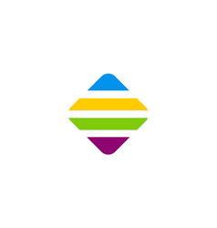 Line square colorful technology logo vector