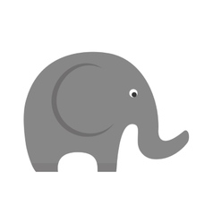 Little elephant cute animal icon graphic vector