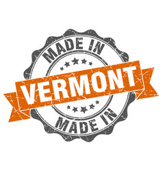 Made in vermont round seal vector