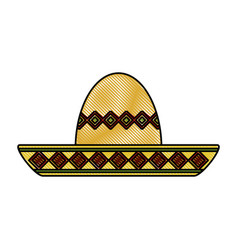 Mariachi mexican hat vector