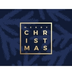 Merry christmas greeting card with minimalistic vector