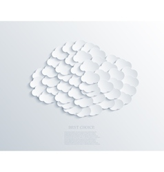 modern cloud design background Eps 10 vector image vector image