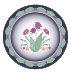 Pattern flowers circle vector image