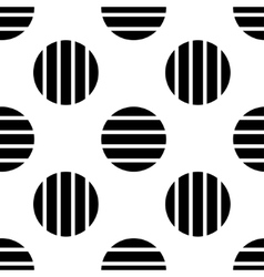 Pattern of black striped circles vector
