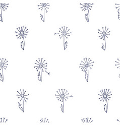 Pattern with dandelions vector