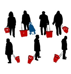 people in shopping vs vector image