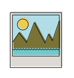 Picture icon in watercolor silhouette vector