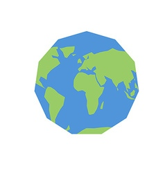 Polygonal world map unusual earth atlas of world vector