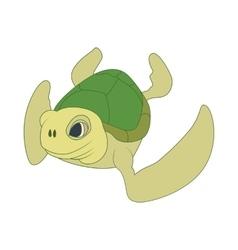 Sea turtle icon cartoon style vector