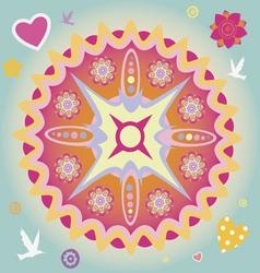 spring power mandala vector image vector image