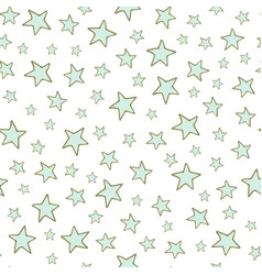 Stars seamless pattern vector