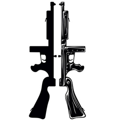 tommy gun vector image vector image