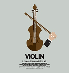 Violin Stringed Musical Instrument vector image vector image