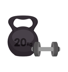 Weight lifting equipment icon vector