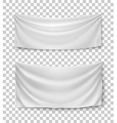 White banner flags transparent background vector